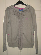 Adidas Originals Fringe Hoodie in grey size UK 10 US S RRP: 55 GBP