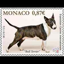 monaco 2014 Bull terrier dog hunde canis chiens animals pets 1v mnh **