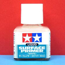 Tamiya #87096 Liquid Surface Primer (White) [40ml]
