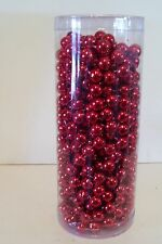 SHINY RED 25 FOOT BEAD GARLAND CHRISTMAS PATRIOTIC WEDDING DECORATION