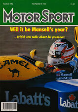 Motor Sport Mar 1992 - Nigel Mansell, Monte Carlo Rally, Daytona 24 Hours, Mini