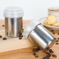 Stainless Steel Cocoa Flour Icing Sugar Cappuccino Sifter + Lid Chocolate Shaker