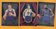 STEPHEN CURRY & KEVIN Durant & KLAY THOMPSON 3 GAME USED JERSEY CARD GS WARRIORS
