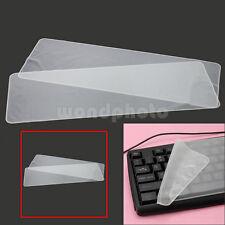 """2 x Práctico Cubierta Funda Silicona Teclado Protectora para 17"""" 15"""" Laptop"""