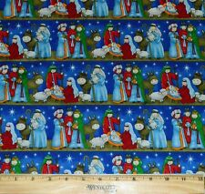 CHRISTMAS FABRIC! BY THE HALF YARD FOR QUILTING! NATIVITY~JESUS~MARY~JOSEPH!