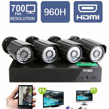 4CH CCTV DVR Kit with 4xOutdoor 700TVL Waterproof IP Camera Home Security System