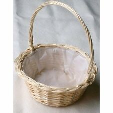 WICKER WEDDING,BRIDESMAID,FLOWERGIRLS ROUND BASKET.Small