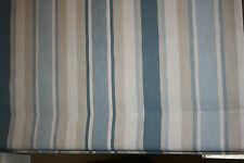 Roman Blind, Laura Ashley Awning Stripe Seaspray Fabric  (Made to measure)