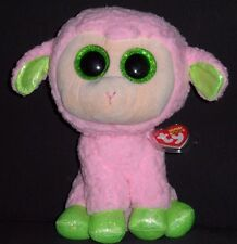 "TY BEANIE BOOS- LEYLA the 9"" LAMB / SHEEP - MINT with MINT TAG (MEDIUM)"