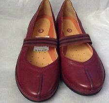 New��Clarks��Size 3.5 D Unstructured Un Bethany Wine Leather Slip On Shoes 36EU