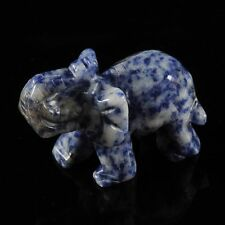 w14669 Carved sodalite elephant figurine