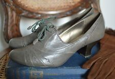 clarks ARMY GREEN grey LACE UP BROGUES 1930'S 40'S ww2 land girl 4 37 brogues