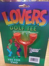 Lovers Golf Tee For Two Funny Humorous Gag Gift