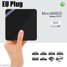 Mini M8S II Smart TV Box Amlogic S905X Quad Core Android 6.0 4K Decoding 8GB EU