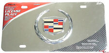 OFFICIAL LICENSED CADILLAC 3D EMBLEM LOGO STAINLESS STEEL LICENSE PLATE