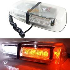 High Power White & Amber 24-LED Flash Strobe Warning Lights Roof Lamp Snow Plow