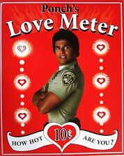 Ponch's Love Meter Metal Sign