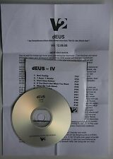 Deus Album (IV) Rare Adv CD-Acetate w/A4 Press-Sheet