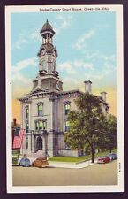 GREENVILLE OHIO OH Darke County Court House Cars Vintage Postcard PC #2