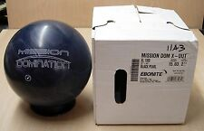 15# 3oz TW 2-3/4 NIB New In Box Undrilled 2011 X-OUT Ebonite Mission Domination