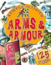 Sticker Activity Arms and Armour, Belinda Gallagher, New Book