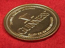 Gold Tone GUINNESS BREWERY Dublin Ireland Beer Coin Token
