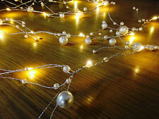 2M LED Christmas PEARL string garden garland spray lights