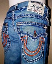 True Religion Jeans CUT OFF SHORTS Thick Multi Stitch Flaps W 31/32  M2F859SGG1