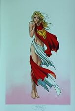 SUPERGIRL CAPED ART PRINT by MICHAEL TURNER & PETER STEIGERWALD  / HTF