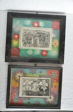 2 Pc Old Wooden Framed Different Political Leaders & Freedom Fighters B&W Photo