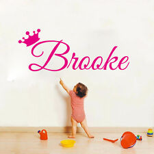 Princess Crown Customized Art Sticker Custom Kids Name Vinyl Wall Decal For Kids