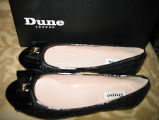 NIB Dune London MITTLE 484 Black- Leather Quilted Bow Ballerina Size 37 Black