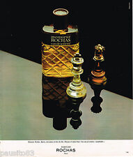PUBLICITE ADVERTISING 055  1977  ROCHAS  eau de toilette  MONSIEUR