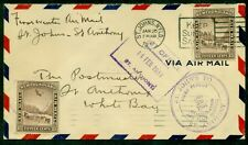 NEWFOUNDLAND 1931 First Flight cover w/Airmails tied and all proper cancels