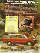 1973-Buick Opel Wagon`Red, Hatchback, interior photo-Vintage Ad