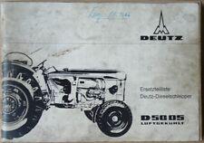 Deutz Schlepper D 5005 Ersatzteilliste