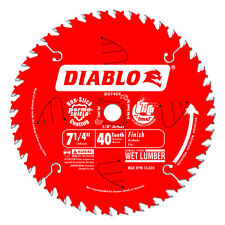 "Freud D0740X Diablo 7-1/4"" 40T ATB Finish/Plywood Saw Blade, 5/8"" Arbor"