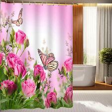 Pink Rosa Duschvorhang Schmetterling Badvorhang Trennwand 180 cm X 180 cm