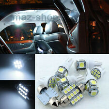 7Pcs White LED Lights Interior Package Fit Honda CIVIC 2001-2006 Sedan Coupe