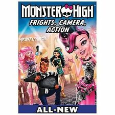 Monster High: Frights, Camera, Action (DVD, 2014) CLEANED AND TESTED ! NICE !
