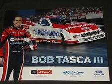 2014 BOB TASCA III MOTORCRAFT / QUICK LANE FORD SHELBY FUNNY CAR NHRA POSTCARD