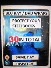 BLU-RAY / DVD STEELBOOK WRAP PROTECTION PLASTIC SLEEVES **30**