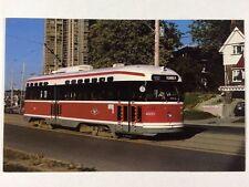 TTC No. 4600 A-15 PCC Street Car SPADINA LRT Trolley Chrome Postcard Unused