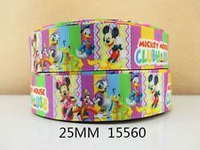 "Mickey Mouse Clubhouse Ribbon 1"" Wide NEW UK SELLER FREE P&P"