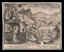santino incisione 1600 S.COLETTA DI CORBIE  le clerc