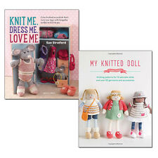 My Knitted Doll and Knit Me, Dress Me,Love Me Collection knitted 2 Books Set NEW
