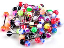 10X Premium Tongue Tounge Nipple Ear Rings Bars Barbell Body Piercing Jewelry