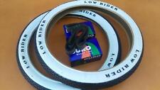 *LOWRIDER LOGO 20x1.75 Brick Pattern White Wall Tires and Tubes 20x1.75 BMX