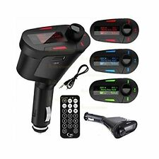 Red LCD Wireless FM Radio Transmitter with + USB SD MMC Audio Input + Remote