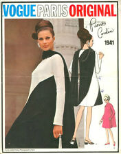 1960s Vintage VOGUE Sewing Pattern DRESS B36 (1523) By Pierre Cardin